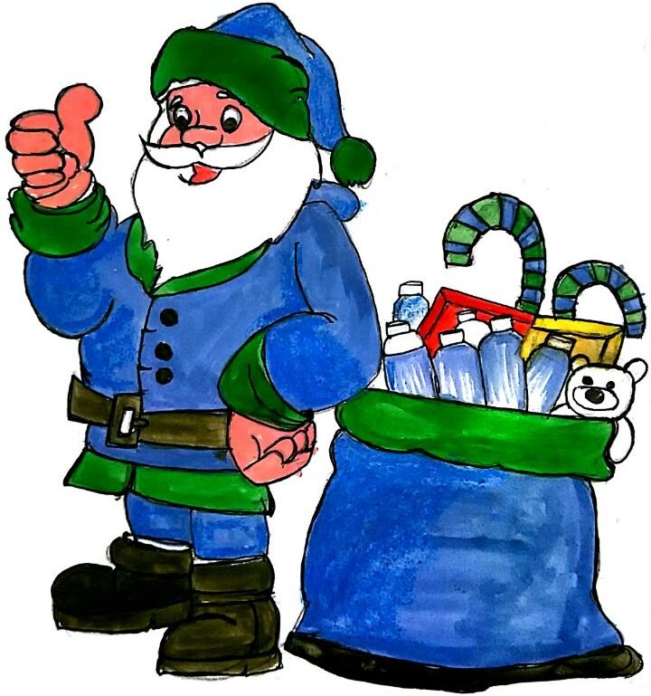 Blue Santa Claus