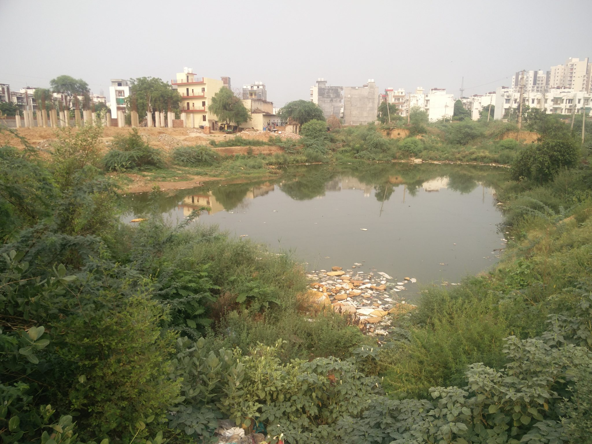 Rain fed water body